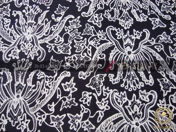 Kain Batik Tulis Motif Pisan Bali Hitam  THEBATIKcoid
