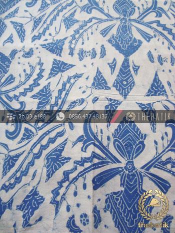 Kain Batik Tulis Indigo Warna Alam Pisan Bali Putih