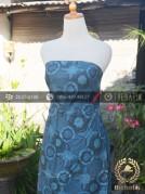 Batik Tulis Warna Alam Motif Ceplokan Indigo