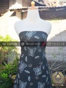 Batik Tulis Warna Alam Kupu-Kupu Latar Hitam