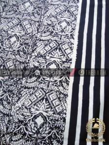 Kain Batik Bahan Baju Motif Cuwiri Garis Hitam