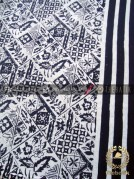 Kain Batik Bahan Baju Motif Tambal Garis Hitam