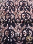 Kain Batik Jawa Sogan Motif Gurdo Latar Hitam