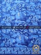 Kain Batik Seragam Pekalongan Motif Kontemporer Biru