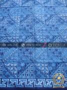 Kain Seragam Batik Pekalongan Motif Tambal Biru