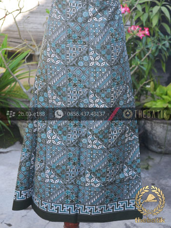 Jual bahan baju batik pekalongan motif tambal hijau tosca Baju gamis batik hijau tosca