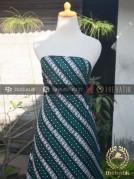 Kain Batik Cap Tulis Motif Parang Klithik Hijau