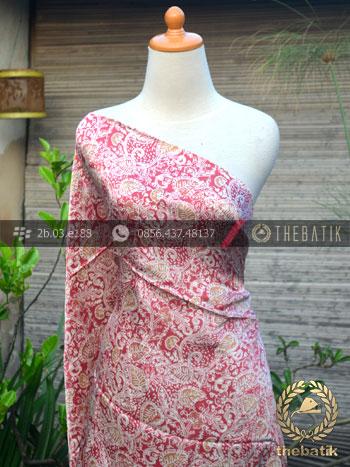 Kain Bahan Batik Sutera Floral Jambon