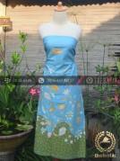 Kain Batik Tulis Warna Pastel Biru Hijau