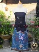 Batik Tulis Motif Dayak Kalimantan Hitam Biru