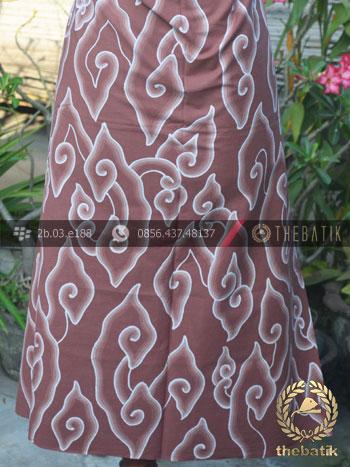 Bahan Batik Tulis Mega Mendung Coklat