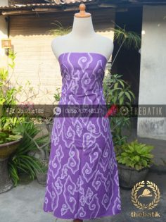 Batik Tulis Megamendung Cirebon Warna Ungu