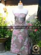 Model Dress Baju Batik Kombinasi Embos Terbaru