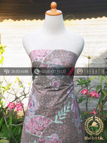 Kain Batik Emboss Motif Kontemporer Abu-Abu Pink