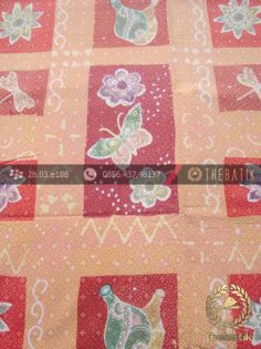 Bahan Baju Batik Emboss Motif Quilt Kontemporer