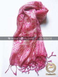 Selendang Batik Murah Grosir Warna Pink