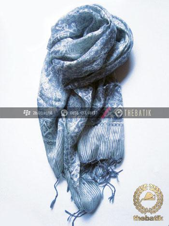 Selendang Batik Murah Grosir Warna Abu-Abu