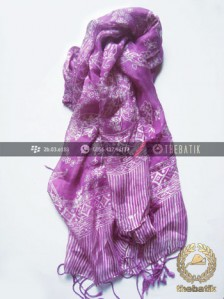 Selendang Batik Murah Grosir Warna Ungu