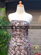 Kain Batik Remukan Coletan Burung Floral Putih