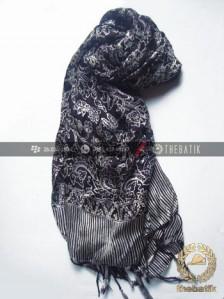 Selendang Batik Murah Grosir Warna Hitam