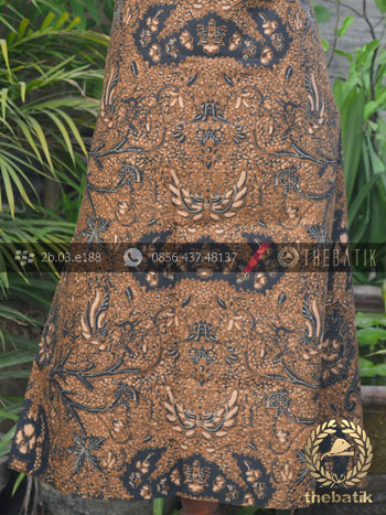 Gambar Motif Kain Batik Solo Wahyu Tumurun Klasik Soga Genes a542e8d650