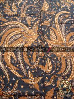 Kain Batik Solo Klasik Motif Peksi Latar Hitam Soga Genes