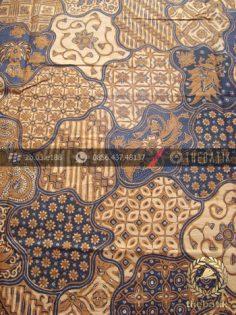 Bahan Baju Batik Solo Motif Sekarjagad Klasik Soga Genes