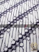 Bahan Kain Batik Jogja Motif Parang Barong Putih
