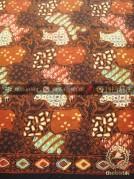 Kain Batik Kombinasi Tulis Sekarjagad Klasik Coletan Merah