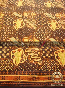 Bahan Batik Kombinasi Tulis Sekarjagad Klasik Coletan Kuning