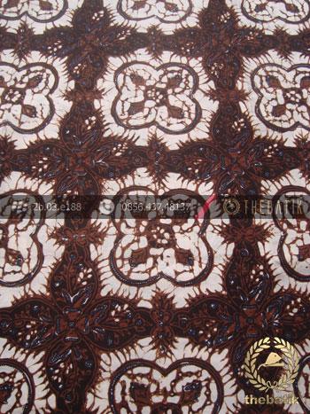 Kain Bahan Baju Batik Klasik Motif Ceplokan Gede Hitam
