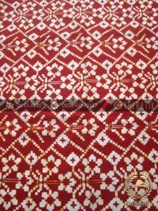 Jual Kain Batik Modern Etnik Jogja Motif Cinde Klasik Merah