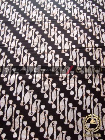 Batik Klasik Jogja Motif Parang Rusak Latar Hitam