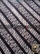 Batik Klasik Jogja Motif Parang Seling Latar Hitam