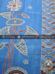 Batik Tulis Pewarna Alami Motif Buketan Biru Indigo