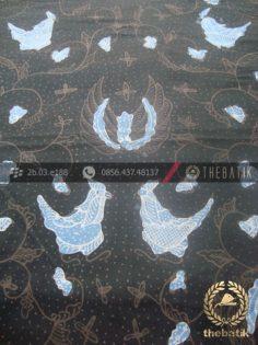 Batik Tulis Pewarna Alami Gurdo Latar Hitam