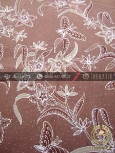 Batik Tulis Pewarna Alami Kupu Buketan Coklat