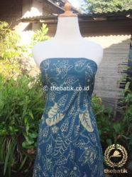 Batik Tulis Pewarna Alami Floral Buketan Biru Tua