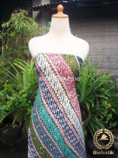 Bahan Kemeja Batik Dobi Motif Parang Warna Warni