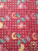 Kain Batik Coletan Motif Ceplok Kembang Merah