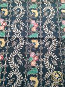 Kain Batik Indigo Coletan Motif Bunga Rambat