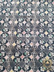 Kain Batik Indigo Coletan Motif Ceplokan Kembang