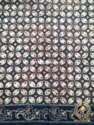 Kain Batik Indigo Motif Kawung Picis Tumpal