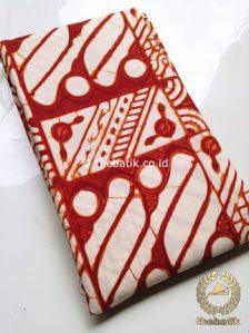 Kain Batik Jogja Klasik Kemerahan Motif Ceplok Keci