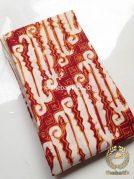 Kain Batik Jogja Klasik Kemerahan Motif Parang Curigo Gede