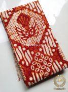 Kain Batik Jogja Klasik Kemerahan Motif Gurdo Sisik