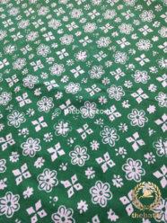 Bahan Kain Batik Kelengan Ceplok Bintang Hijau