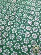 Bahan Kain Batik Kelengan Ceplok Kembang Hijau
