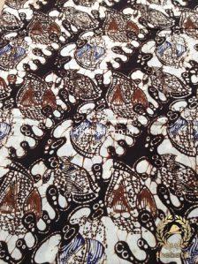 Kain Batik Panjang Warna Sogan Klasik Daun Air