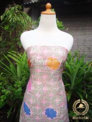 Kain Batik Katun Jepang Motif Bunga Rose Pink Coletan